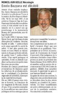 Ennio Bazzara est décédé