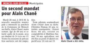 Un second mandat pour Alain Chané