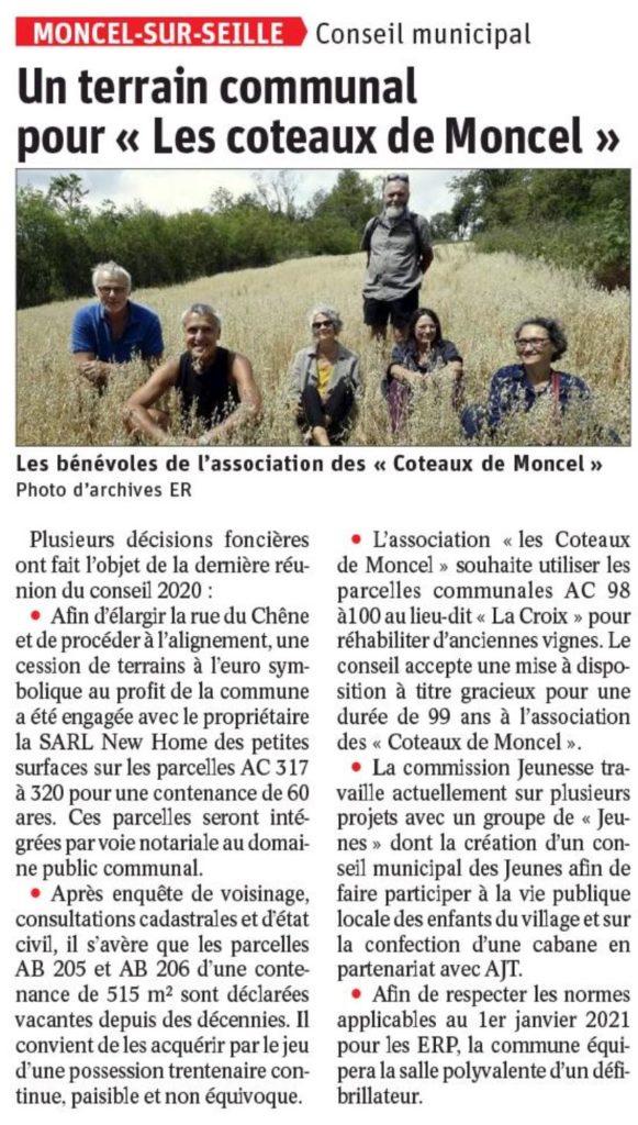 Un terrain communal pour « Les coteaux de Moncel »